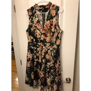 Fashion to Figure Floral Choker Neck Dress